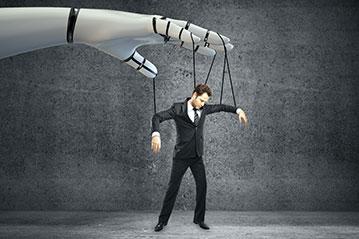 Blog Mein Kollege der Computer - Mensch als Marionette - Massenarbeitslosigkeit 359x239px